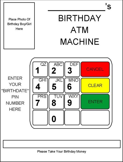 How To Get Cash Off A Gift Card - robbygurl s creations diy birthday card atm machine