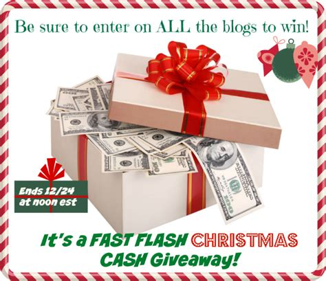Great Cash Giveaway - win fast cash for christmas 80 ends 12 24 at noon