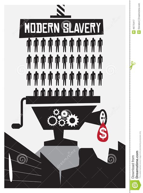 Modern Slavery Poster Stock Vector Image Of Contemporary Xs On Movement To End Modern Slavery Time