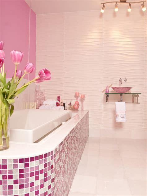 Pink Tile Bathroom   Houzz