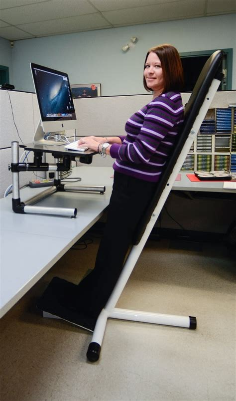 Office Chair For Standing Desk Out Standing Invention Replaces Unhealthy Chair For Office Workers Standing Desk Chair