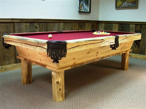 Handmade Pool Table - made rustic pool table by baron s billiards