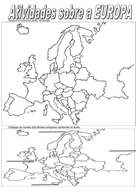 Atividades sobre a europa