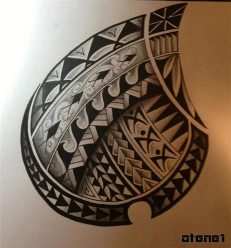 polynesian tattoo on