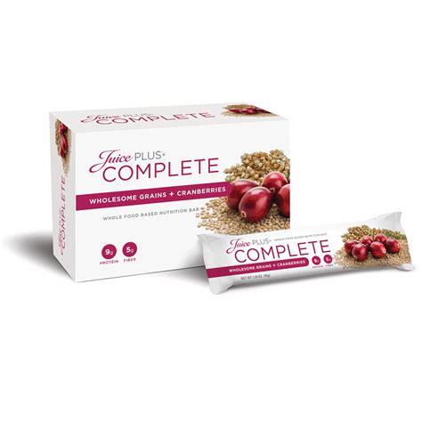 Complete Bar Juice Plus 174 Complete Wholesome Grains Cranberries