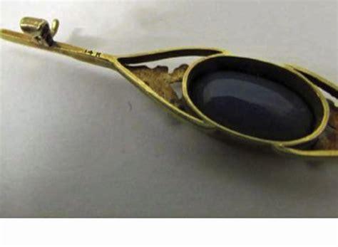 One Treasure Pin wear it your way 14k black opal doublet pin one s treasure ruby