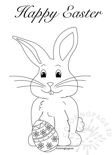 easter bunny coloring pages book coloring page