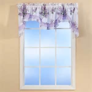 Office Valances Lilac Bouquet Ruffled Quilted Valance Curtains