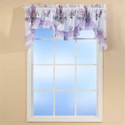 lilac floral curtains lilac ruffle valance floral valance lilac curtains