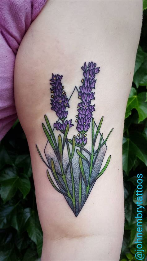 lavender flower tattoo designs lavender cool plant pencil and in color