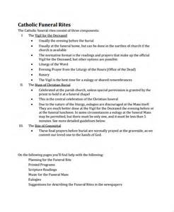 Funeral Mass Program Template by Sle Catholic Funeral Program 12 Documents In Pdf