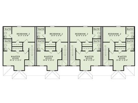 2 story apartment floor plans apartment house plans 4 living units two story design