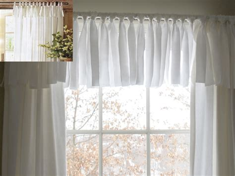homemade curtains diy easy no sew window valance pottery barn inspired