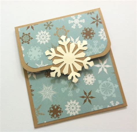 christmas gift card holder snowflakes