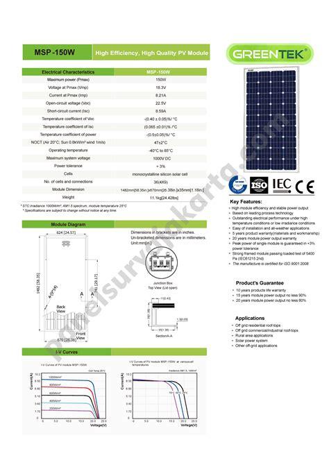 Ac Sharp Makassar panel surya greentek 150 wp monocrystalline
