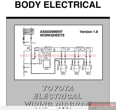 toyota electrical wiring diagram workbook auto repair