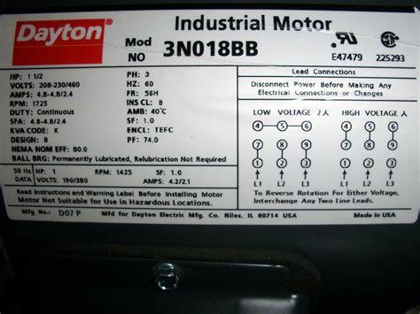 dayton electric motor cw ccw wiring diagram dc motor