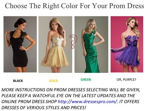 how to pick a lshade choose the right color for your prom dress