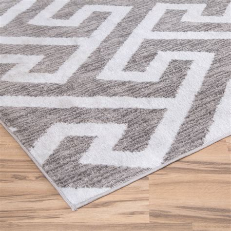 grey rug zipcode design hector gray white area rug reviews wayfair