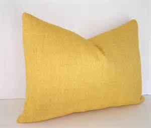 decorative designer pillow cover basketweave yellow by