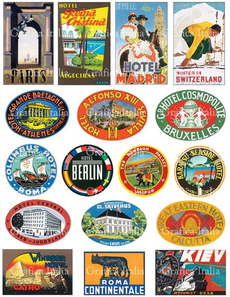 Kofferaufkleber Mallorca by Vintage Luggage Stickers Clipart 60