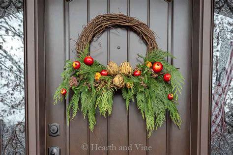 diy winter wreath  fresh  faux materials