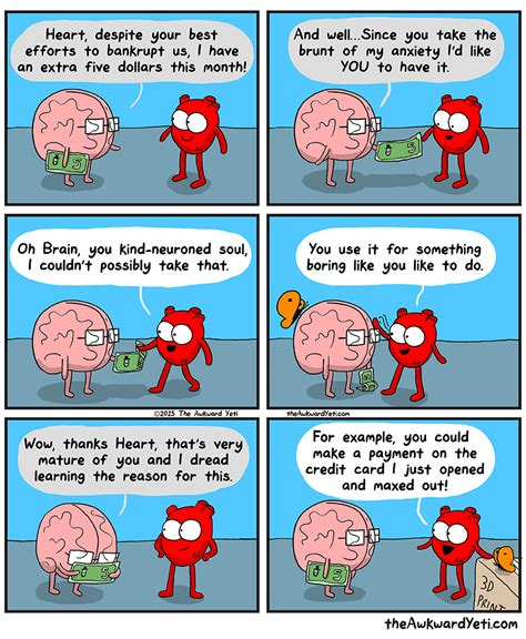 heart and brain an 1449470890 the awkward yeti on twitter quot new comic about a surplus book https t co n70usfkepn https t