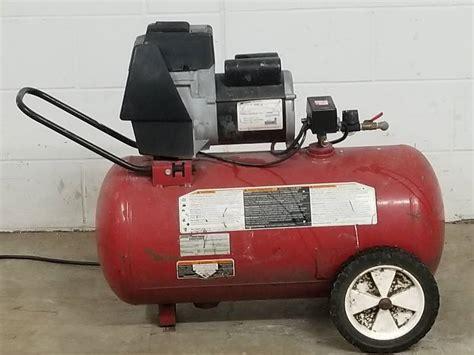 coleman air compressor consignment sale  bid