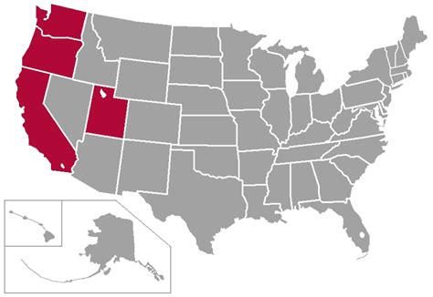 map usa states west coast file wcc west coast conference map png wikimedia commons