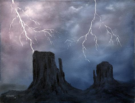 Steampunk Lighting Monument Valley Storm By Richard Fowler Monument Valley