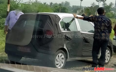 hyundai small car new hyundai small car 2018 hyundai santro spied for the