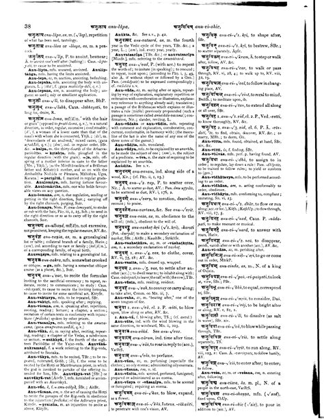 dictionary section monier williams sanskrit english dictionary page 0071