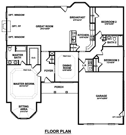 great one story 7645 3 bedrooms and 2 5 baths the the darlene one story house with 3 bedrooms cbs
