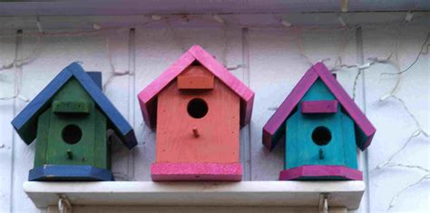 colorful bird houses colorful bird houses shot flickr