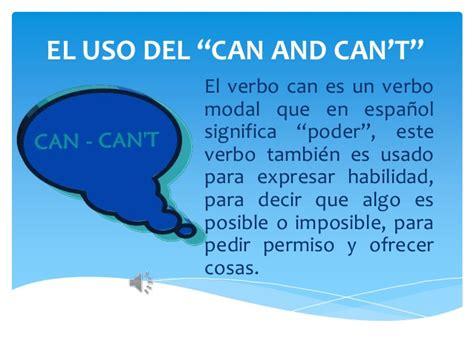 que se ignifica pattern en español el uso del can can t