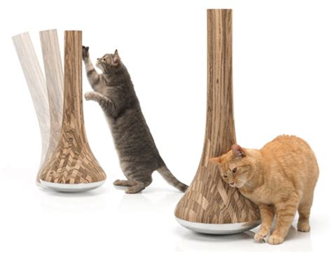 modern scratching post leo modern cat scratching post from james owen designs