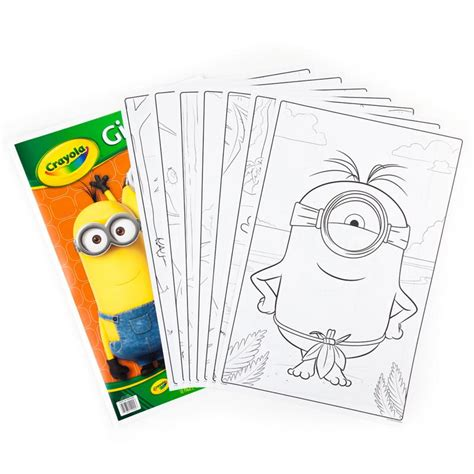 crayola coloring pages minions amazon com crayola giant color pages minions toys games