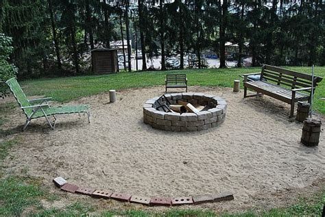 sand in backyard build a fire pit in two hours or less