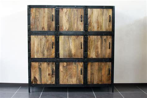 armoire métallique industrielle cuisine armoire en manguier l cm naturaliste maisons du