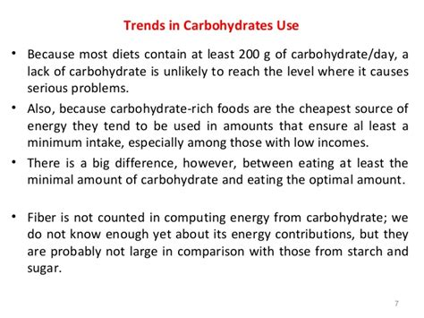 carbohydrates uses of carbohydrates in human nutrition