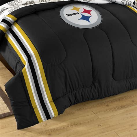 steelers bed set 3pc nfl pittsburgh steelers comforter set football