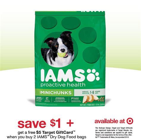 dog food coupons target 1 coupon gift card offer on iams dog food at target