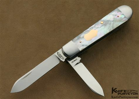 Tom Handcrafted Knives - tom overeynder pearl slip joint knifepurveyor