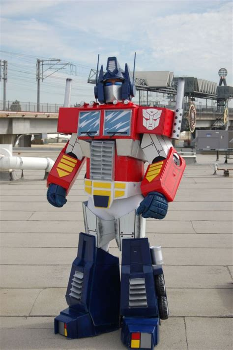 how to make a costume how to make your own optimus prime costume neatorama