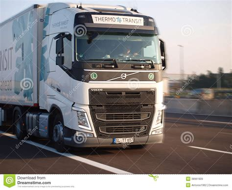 brand new volvo semi truck brand new volvo fh truck editorial stock image image of