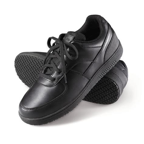 black work shoes genuine grip s slip resistant athletic work shoes