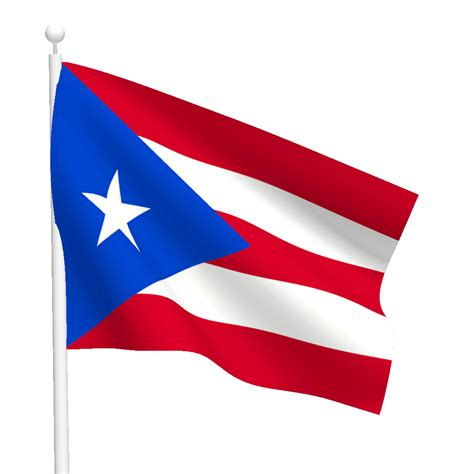 Wall Stickers Sports puerto rico flag flags international