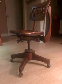 Antique Swivel Desk Chair Parts Antique Swivel Sikes Of Buffalo Walnut Office Chair 1930s