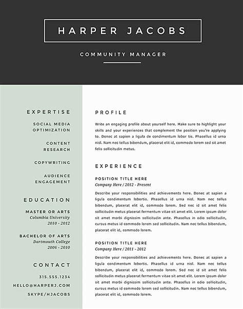 Resume format for 2017
