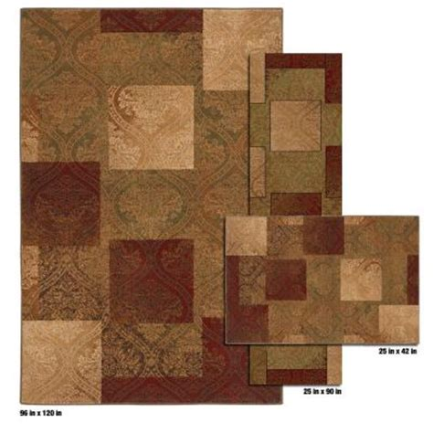 mohawk rugs discontinued mohawk home eloquence gold 8 ft x 10 ft 3 rug set discontinued 298777 the home depot